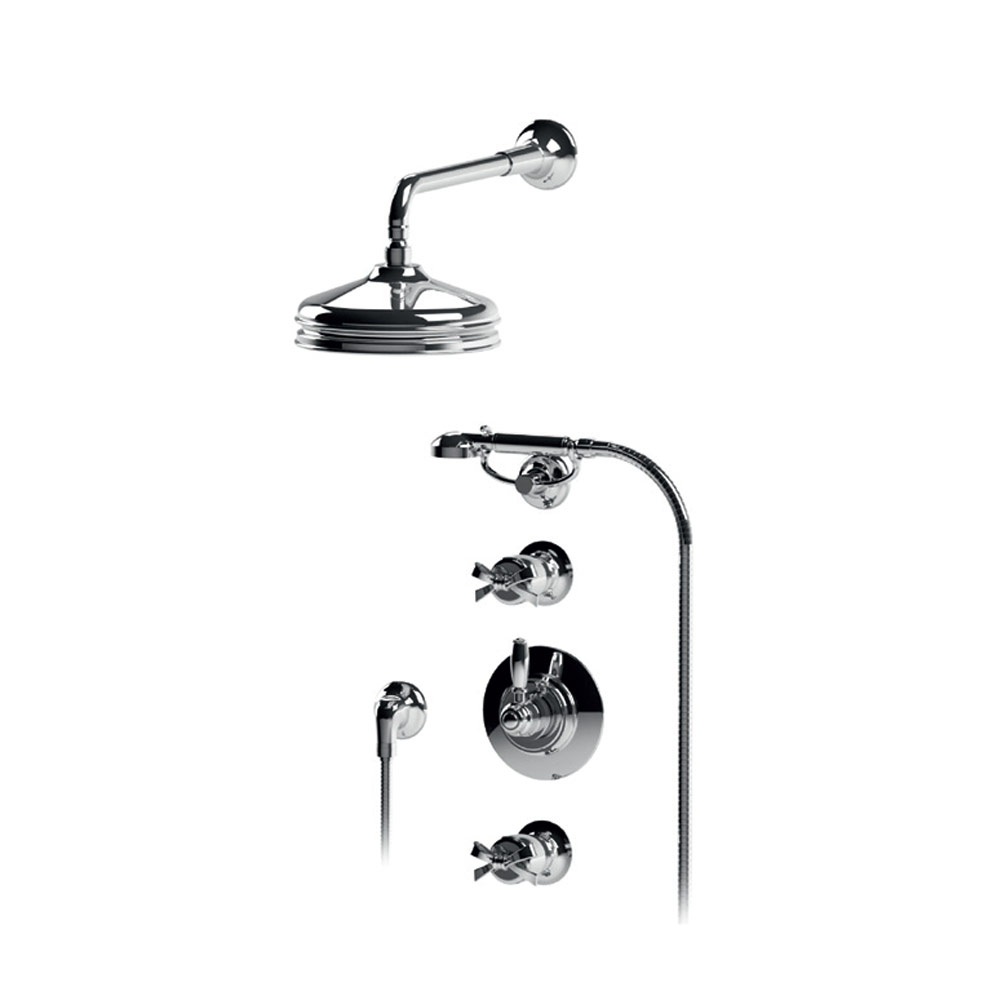 Thermostatic built-in shower mixer