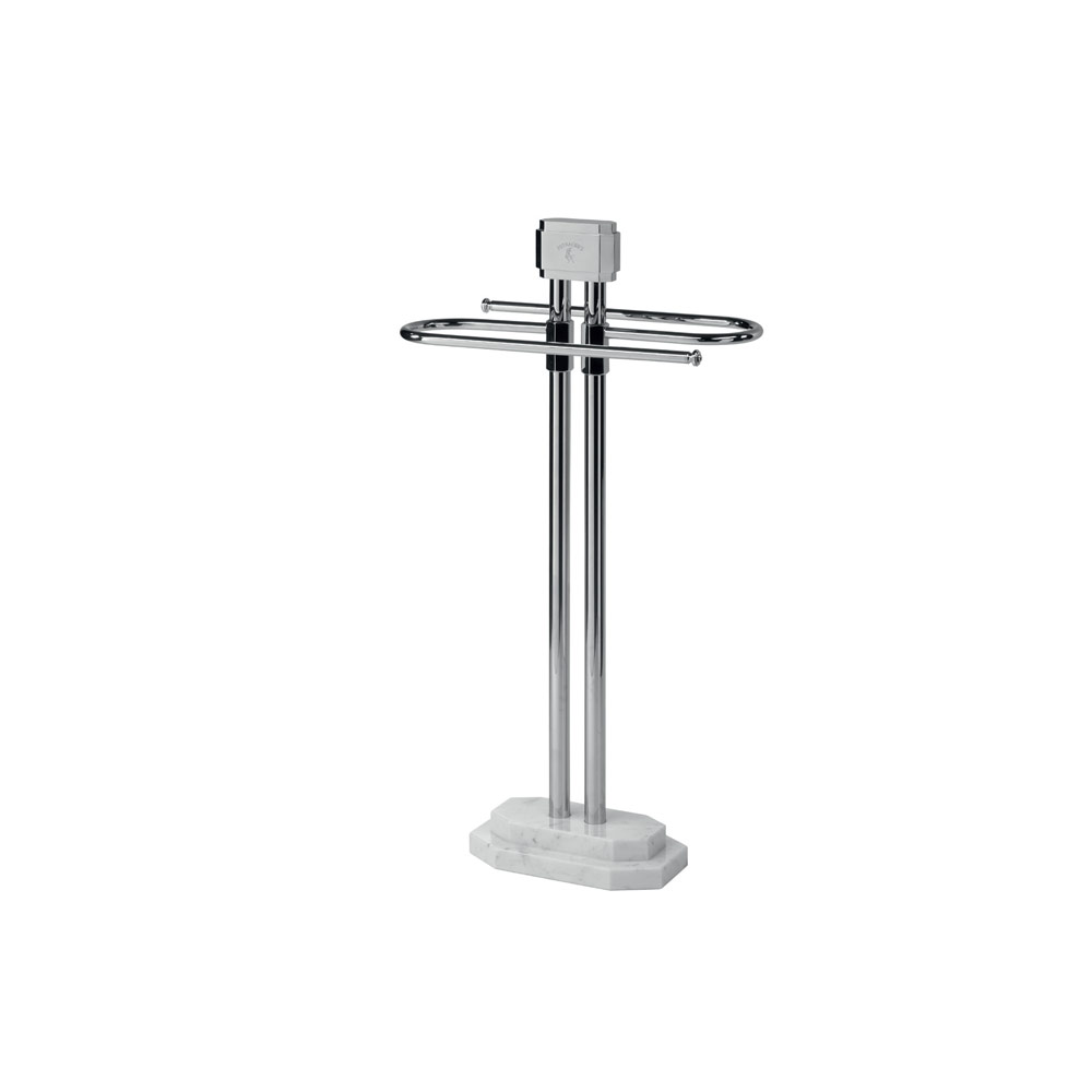 Towel holder stand with marble base