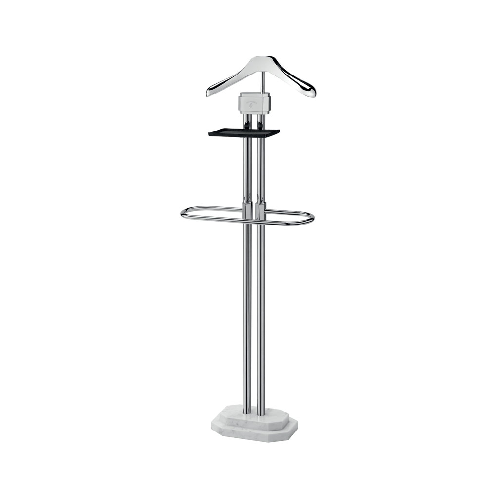 Clothes holder stand with marble base