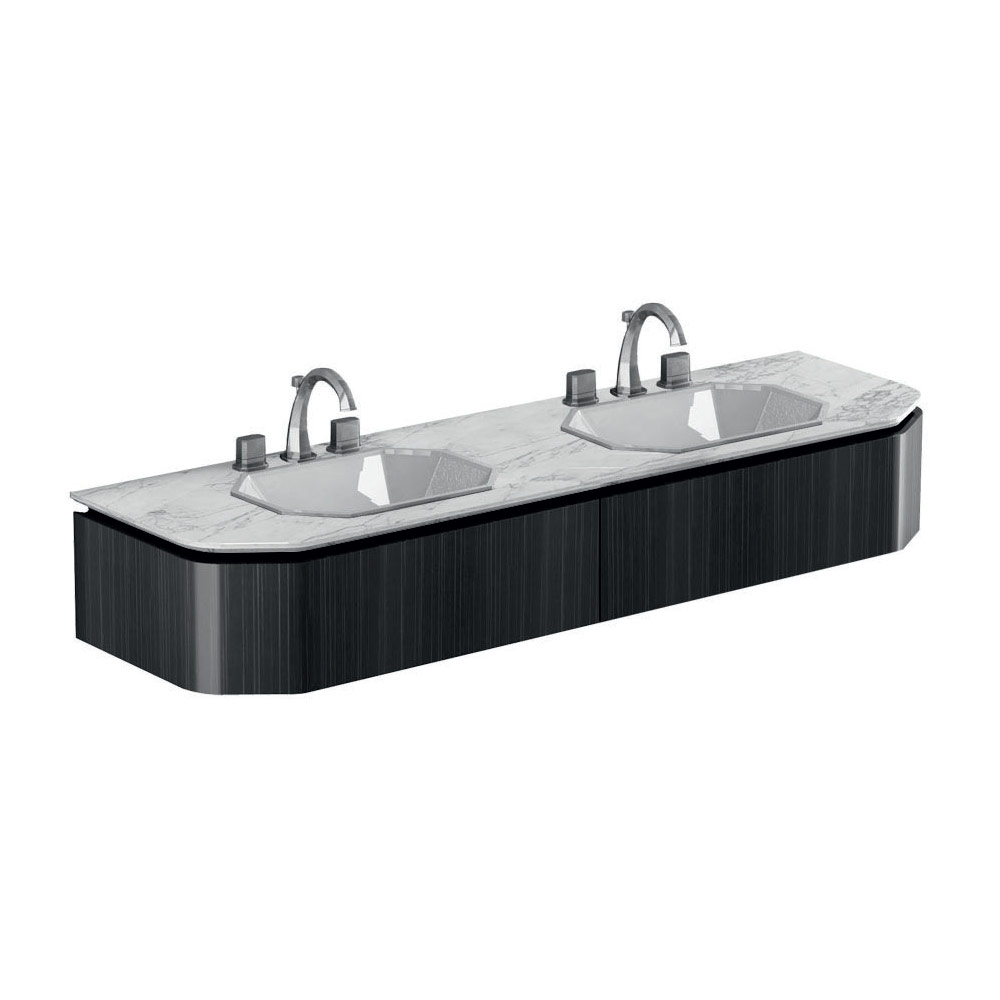 Base for 2 basins, 2 drawers